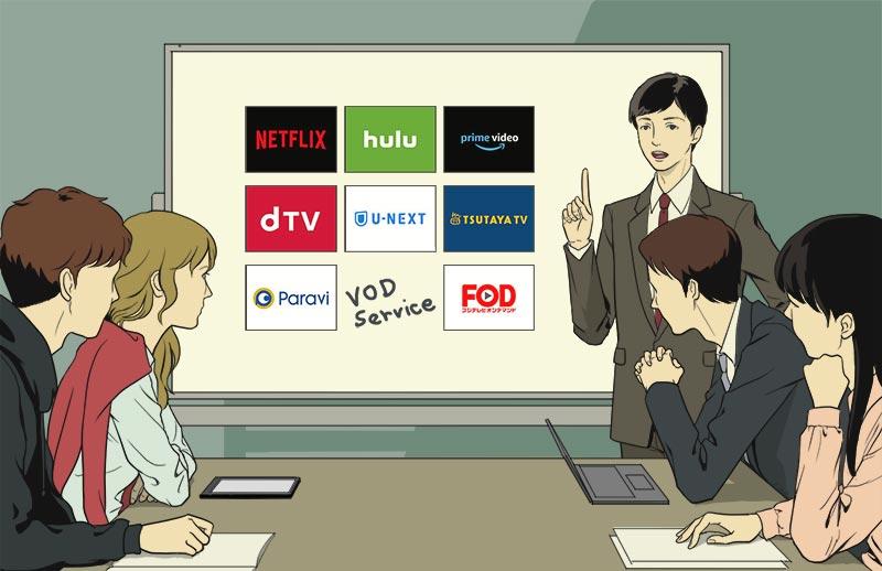 映画視聴での、おすすめの動画視聴(VOD)サービス